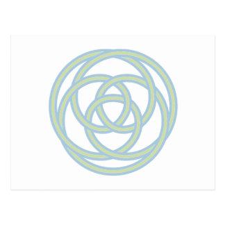 Símbolos paganos tarjeta postal