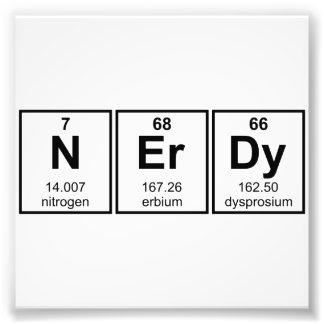 Símbolos periódicamente Nerdy del elemento Fotografía