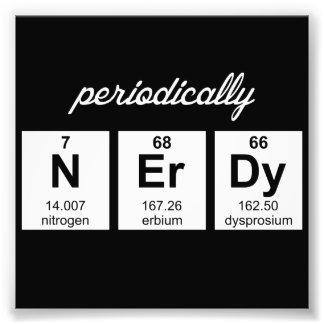 Símbolos periódicamente Nerdy del elemento Fotografías