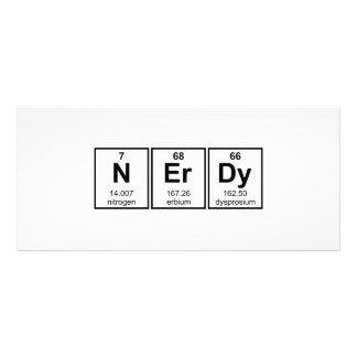 Símbolos periódicamente Nerdy del elemento Lona Publicitaria