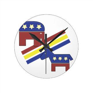 Símbolos políticos reloj redondo mediano