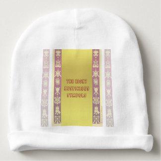 Símbolos propicios tibetanos de Tíbet Gorrito Para Bebe