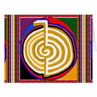 Símbolos que cuidan de la cura grande de los tarjeta de felicitación grande