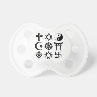 Símbolos religiosos de Symetric Chupete De Bebe