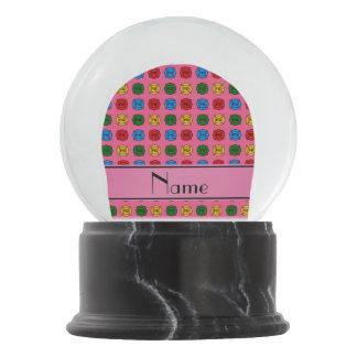 Símbolos rosados conocidos personalizados del bola de nieve