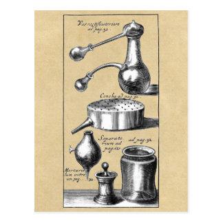 Símbolos y herramientas de un alquimista postal