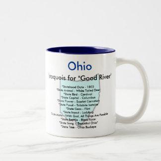 Símbolos y mapa de Ohio Taza De Dos Tonos