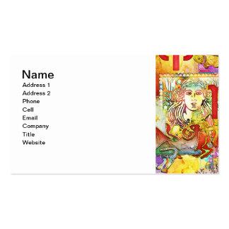 Símbolos y muestras del zodiaco de la astrología tarjeta de negocio