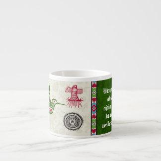 Símbolos y sabiduría - colibrí del nativo tazita espresso