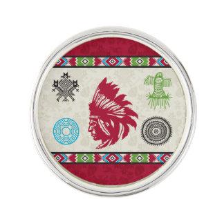 Símbolos y sabiduría - jefe del nativo americano pin