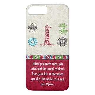 Símbolos y sabiduría - tótem del nativo americano funda iPhone 7 plus