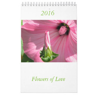 Simbols of love flower calendar