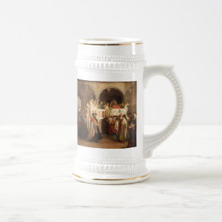 Simchat Torah In Italy by Solomon Hart- Circa 1850 18 Oz Beer Stein