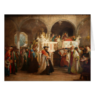Simchat Torah In Italy - Circa 1850 Card