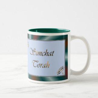 Simchat Torah Jewish Holiday Chag Sameach Two-Tone Coffee Mug