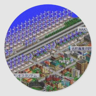 simcitey2000-japan pegatina redonda