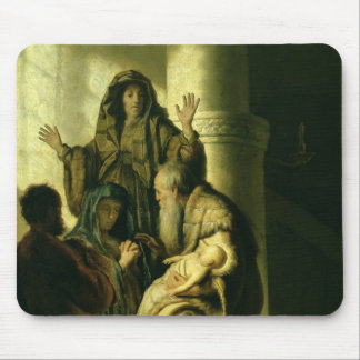 Simeon and Hannah in the Temple, c.1627 Mouse Pad