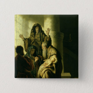Simeon and Hannah in the Temple, c.1627 Pinback Button