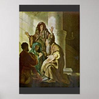 Simeon en el templo Por Rembrandt Van Rijn Impresiones