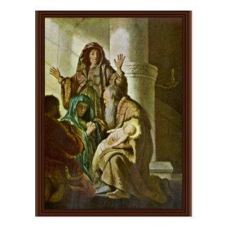 Simeon en el templo. Por Rembrandt Van Rijn Postales
