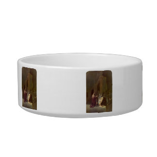 Simeon in the temple by Rembrandt Cat Water Bowls