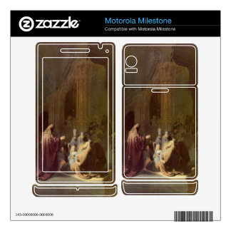 Simeon in the temple by Rembrandt Motorola Milestone Decal
