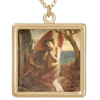 Simeon Solomon: Love in Autumn Gold Plated Necklace