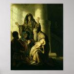 Simeon y Hannah en el templo, c.1627 Posters