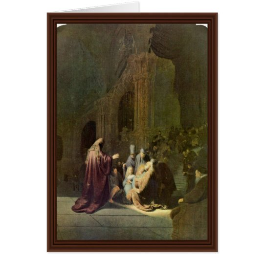 Simeonâ € ™ S Song Of Praise. By Rembrandt Van Rij Card
