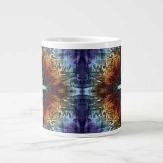 Simetría abstracta de colores taza grande