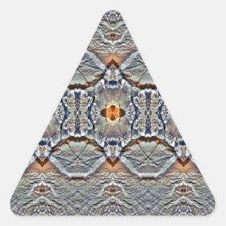simetría aérea pegatina triangular