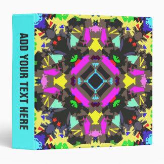 """Simetría colorida abstracta carpeta 1 1/2"""""""
