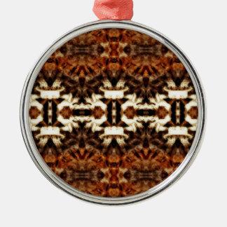 simetría de la antena del mirroruniverse adorno redondo plateado