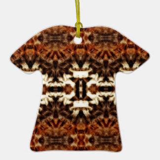 simetría de la antena del mirroruniverse adorno de cerámica en forma de camiseta