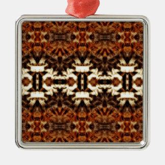simetría de la antena del mirroruniverse adorno cuadrado plateado