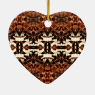 simetría de la antena del mirroruniverse adorno de cerámica en forma de corazón