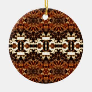 simetría de la antena del mirroruniverse adorno redondo de cerámica