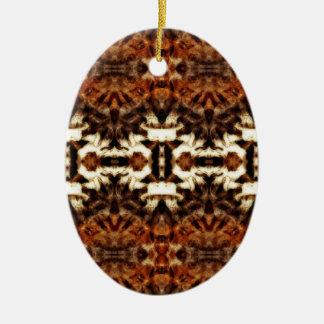 simetría de la antena del mirroruniverse adorno ovalado de cerámica
