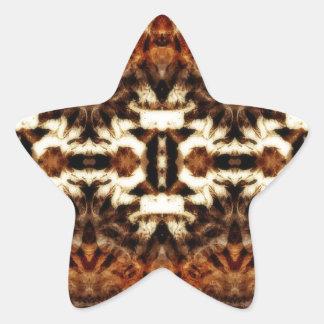 simetría de la antena del mirroruniverse pegatina en forma de estrella