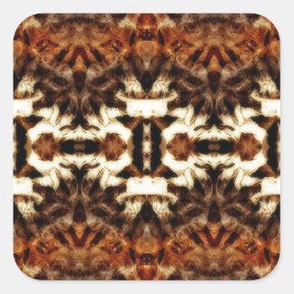 simetría de la antena del mirroruniverse pegatina cuadrada