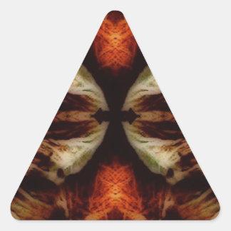 simetría de la flora del mirroruniverse pegatina triangular
