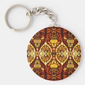 Simetría de la lámpara de Tiffany Llavero Redondo Tipo Pin
