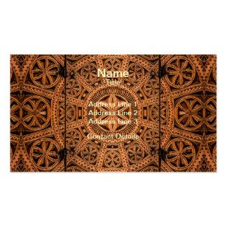 Simetría de madera tallada tarjetas de visita