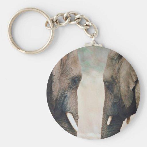 Simetría del elefante llaveros