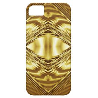 Simetría elegante del oro funda para iPhone SE/5/5s