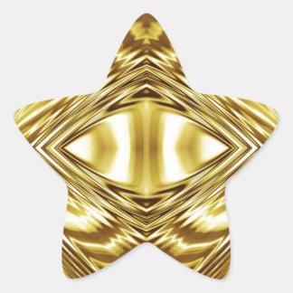Simetría elegante del oro pegatina en forma de estrella