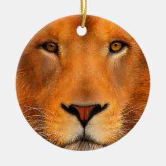 Simha Lion Face Ceramic Ornament