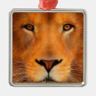 Simha Lion Face Metal Ornament