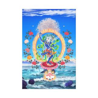 Simhamukha, Lion-Headed Wisdom Dakini Canvas Print