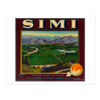Simi LabelSanta anaranjado Susana, CA Postal